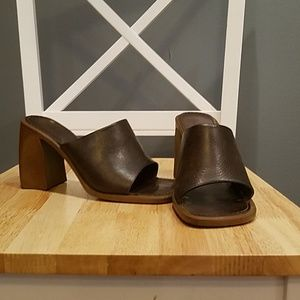 Aldo chunk heel slides.  Gently worn